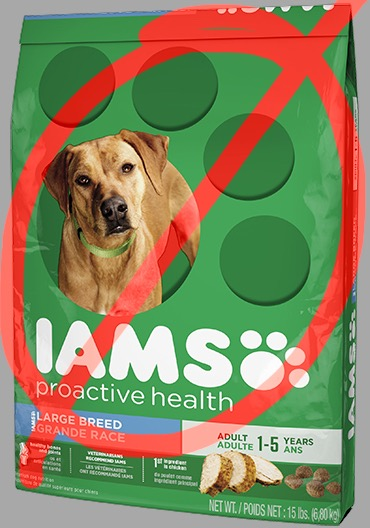 Iams Proactive Health has chicken by-products and food coloring.
